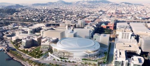 Recreación de lo que será el Chase Center, nuevo estadio de los Warriors