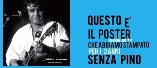 Un poster ed un dolce in ricordo di Pino Daniele.