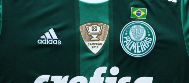 Camisa do Palmeiras com bandeira do Brasil