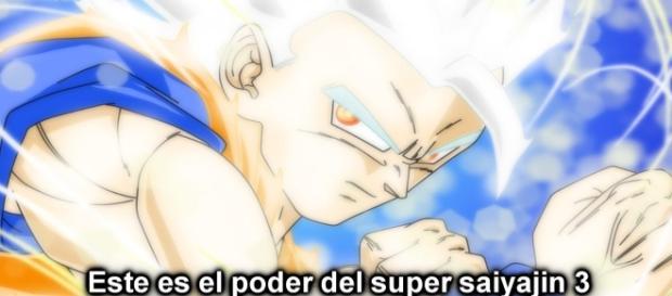 Goku con su nueva transformación