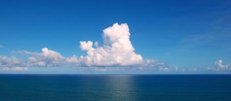 Clouds gather over the Atlantic Ocean. Wikipedia - Tiago Fioreze