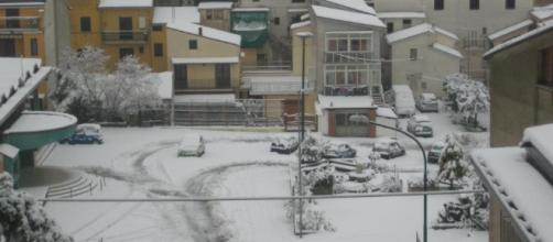 Neve Campania : Tanta neve a bassa quota