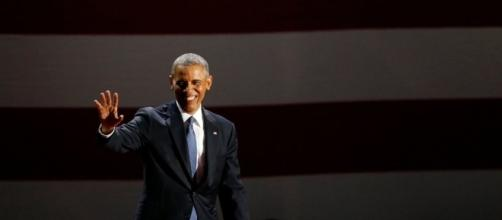 Obama delivers his farewell speech in Chicago - Photo via Nam Y. Huh - mercurynews.com