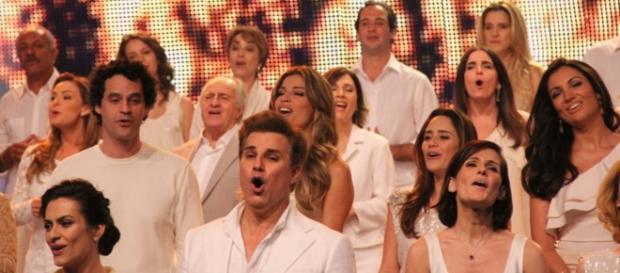 Atores em vinheta de fim de ano da Globo