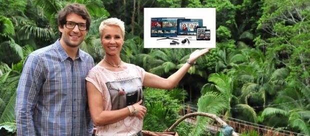 Daniel Hartwich und Sonja Zietlow auf der TVNow App / Fotos: MG RTL; RTL Stefan Menne