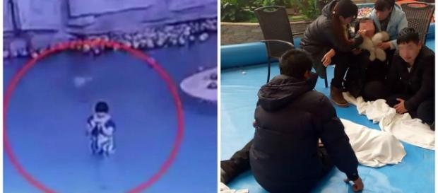 Vídeo flagrou o momento em que o menino se afoga