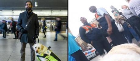 Amit Patel filma as situações pelas quais ele e Kika, sua cadela-guia, têm que passar quando usam o transporte público londrino