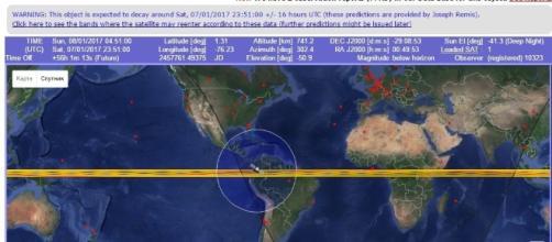 Brasil é um dos locais onde o satélite pode cair