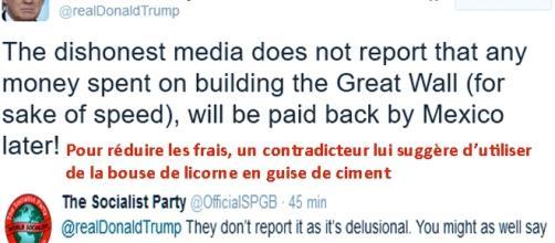 Le plus fou, c'est que Donald Trump répond à ses contradicteurs sur Twitter (genre ''it's spelled YUGE'')
