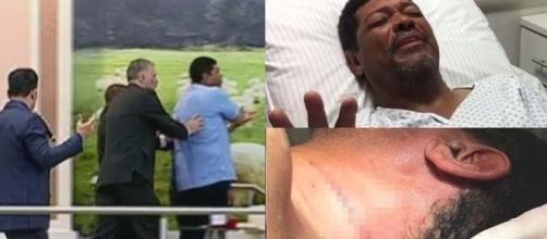 Video mostra momento em que pastor Valdemiro Santiago leva facada na Igreja Mundial do Poder de Deus