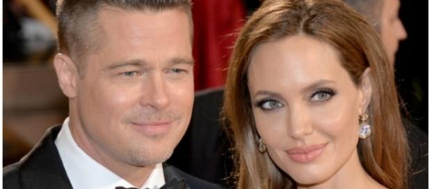 Brad Pitt e Angelina Jolie, quando ainda eram um casal