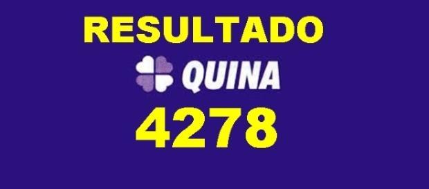 Resultado do jogo da Quina 4278