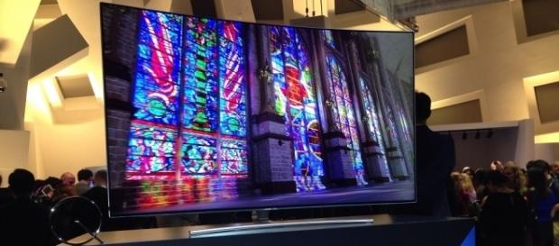 Samsung's new QLED TV was unveiled this week at CES in Las Vegas. (Photo via Mark Albertson)