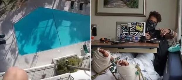 Vídeo de acidente após salto em piscina viralizou nas redes sociais
