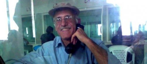Political prisoner Ali Moezzi photographed by his family in prison in Tehran Iran.