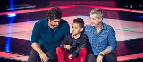 Victor & Leo com Marco Souzza no The Voice Kids