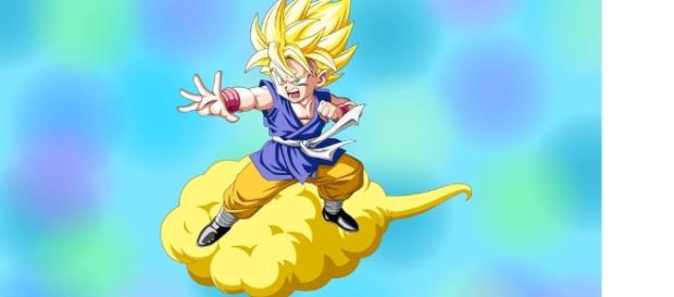 Nube voladora Dragón Ball Gt Goku ssj