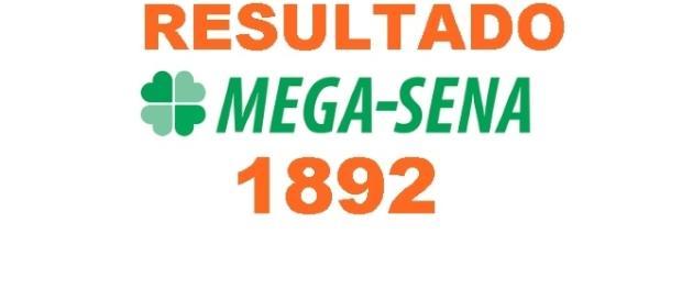 Resultado do jogo da Mega-Sena 1892