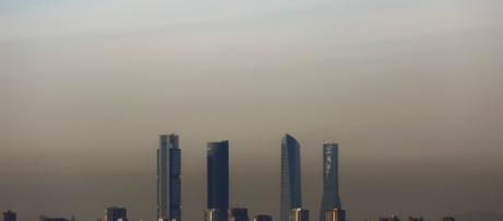 Contaminación en el cielo de Madrid