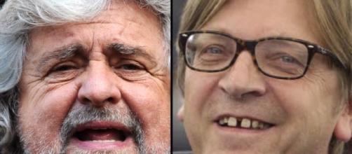 Beppe Grillo e Guy Verhofstadt
