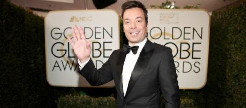 Jimmy Fallon Totally Made Up His Golden Globes Opening on the Spot - elle.com