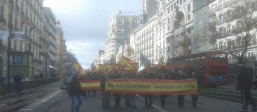 Manifestación del pasado sábado a su paso por la calle Alcala