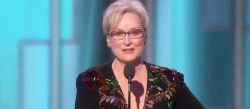 Meryl Streep uses Golden Globes speech to slam Trump without saying his name. Photo: Blasting News Library - elle.com
