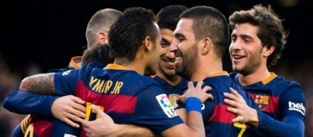 Un joueur du FC Barcelone s'approche de l'OM.