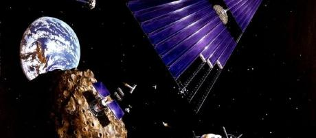 Solar power station facilites asteroid mining (Image courtesy: NASA/ Wikimedia Commons)