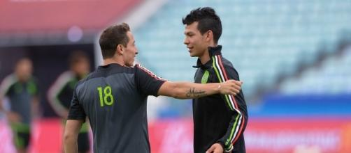 Andrés Guardado e Hirving Lozano (vía: Mexsport)