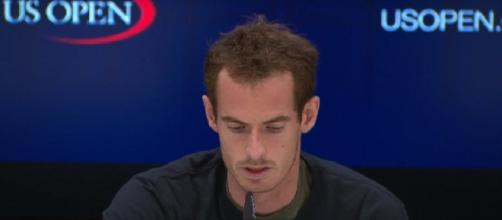 Andy Murray during a press conference before the 2017 US Open. (Image Credit: US Open Tennis Championships channel/YouTube)