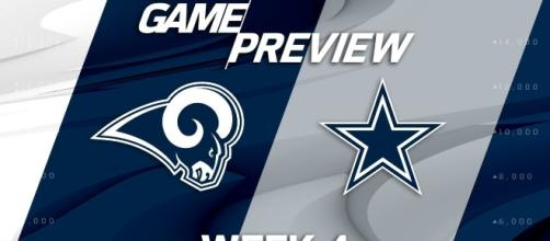 Dallas Cowboys face off against the Los Angeles Rams in week 4 | Image Credit: NFL | YouTube