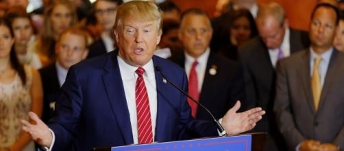 Donald Trump is eroding GOP votes. [Image Credit: Michael Vadon/Flickr]