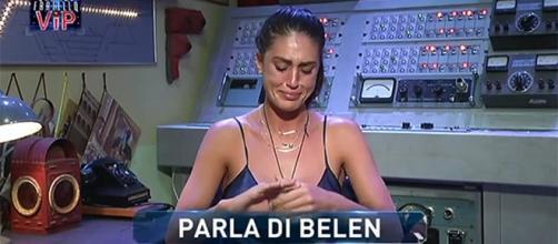 Gf Vip, Cecilia in lacrime parla di Belen: