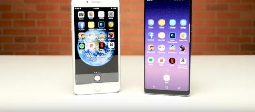 iPhone 8 Plus vs. Galaxy Note 8 Speed Test - (Image Credit: PhoneBuff Channel/YouTube)