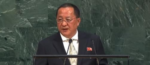 Kim D.P.R. Korea denounces US President's 'reckless and violent' comments. [United Nations/ Youtube screencap]