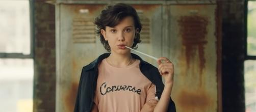 """Millie Bobby Brown's Eleven will sport a new look in """"Stranger Things"""" season 2. (Image Credit: Converse/YouTube)"""