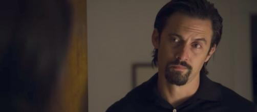 "Milo Ventimiglia (right) shares a moment with Mandy Moore (left) in critically acclaimed ""This Is Us"" - Image via Youtube/This Is Us"