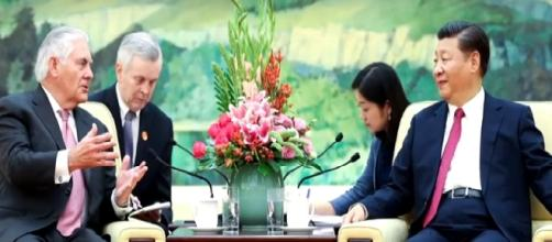 """Tillerson: US """"probing"""" possible talks with North Korea. [Image Credit: CBS News/YouTube]"""
