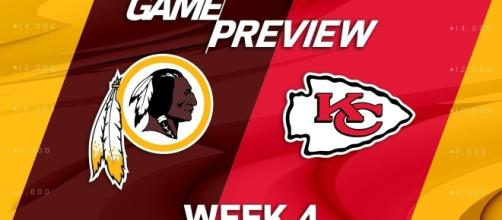 Washington Redskins square off against Kansas City Chiefs in Monday Night Football. (Image Credit: NFL/YouTube)