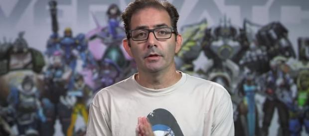 "Jeff Kaplan says the ""Overwatch"" community is scary. Image Credit: dinoflask / YouTube"