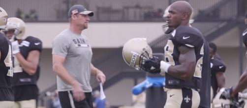Adrian Peterson Raw Footage from Training Camp from YouTube/New Orleans Saints on NOLA.com