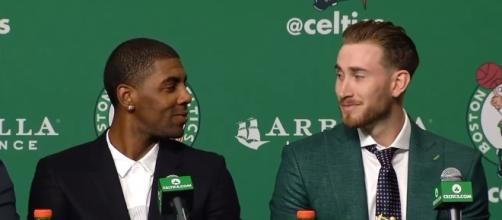 Boston Cetlics stars Kyrie Irving and Gordon Hayward had rest Monday -- (ESPN/ YouTube)