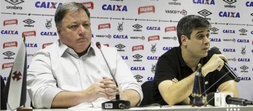 Diretor de futebol, Anderson Barros, e vice-presidente do Vasco, Eurico Brandão, Euriquinho.