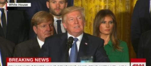 Donald Trump at the White House, via Twitter