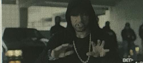 Eminem rips Donald [Image via BET/Youtube screencap]