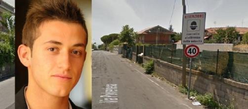Fonte immagine: NewSicilia.it - In foto Antonio Martelli e la strada dove ha perso la vita.