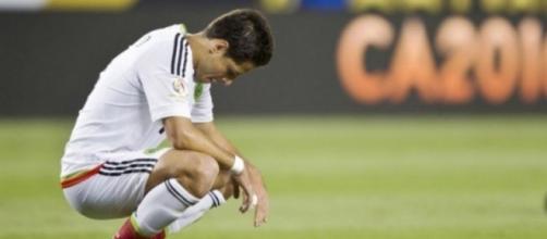 Javier 'Chicharito' Hernández en un encuentro con la Selección Mexicana