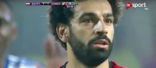 Mohamed Salah scores winning goal, qualifying Egypt for the 2018 World Cup games. Photo via Foot Goal/YouTube.