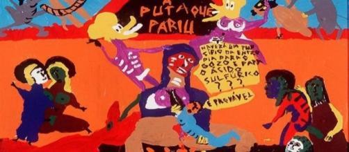 Pintura da exposição do artista Pedro Moraleida, em Belo Horizonte